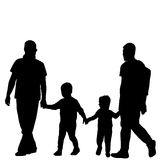 Gay family couple Stock Images