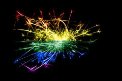 Gay fireworks sparkling flag. New Year 2019 and Christmas party concept. Gay fireworks sparkling flag. New Year 2019 and Christmas party concept royalty free illustration