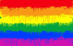 Gay flag. Grunge illustration of gay and lesbian flag Royalty Free Stock Photo