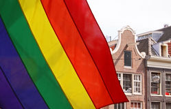 Gay flag amsterdam Stock Image