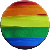 Gay Flag flag or banner. Made with red, orange, yellow, green, blue and purple ribbons stock illustration
