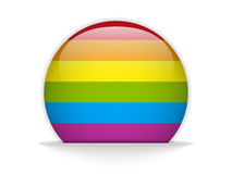Gay Flag Circle Striped Button Royalty Free Stock Photo