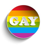Gay Flag Circle Striped Sticker Stock Images