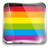Gay Flag Circle Striped Sticker Royalty Free Stock Photography