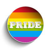 Gay Flag Circle Striped Sticker Stock Photos