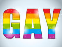 Gay Flag Circle Striped Sticker Stock Image