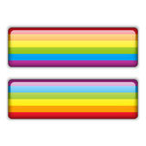 Gay Flag Equal Striped Sticker Royalty Free Stock Image
