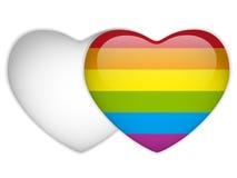 Gay Flag Heart Striped Sticker Stock Photo