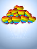 Gay Flag Hearts Balloons Background Royalty Free Stock Photography