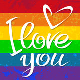 Gay flag love Royalty Free Stock Images