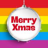 Gay Flag Merry Christmas Ball Royalty Free Stock Image