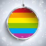 Gay Flag Merry Christmas Ball Stock Photos