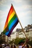 Gay flag Paris royalty free stock photography