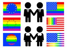 Gay flag Stock Image