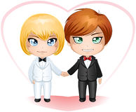 Gay Grooms Getting Married 2 Stock Images