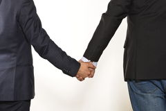 Gay hand by hand Stock Images