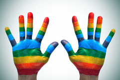 Gay hands Stock Photography