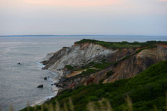 Gay Head cliffs of clay, Martha's Vineyard. Gay Head cliffs of clay at the westernmost point of Martha's Vineyard in Aquinnah, Massachusetts, USA Stock Photos