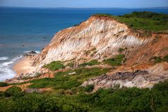 Gay Head Cliffs at Martha's Vineyard Stock Image