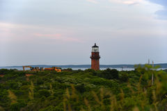 Gay Head Lighthouse, Martha's Vineyard. Gay Head Lighthouse at the westernmost point of Martha's Vineyard in Aquinnah, Massachusetts, USA. This Stock Images