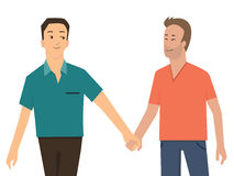 Gay holding hand Stock Photos
