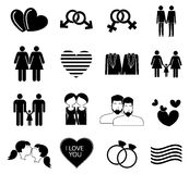Gay homosexual icons set Stock Photography