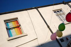 Gay house. Colorful house which reminds the gay colours Royalty Free Stock Images