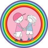 Gay icon. Vector illustration of cute gay boys Royalty Free Stock Photos