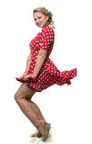 Gay issues. Girl in a red polka dot dress Royalty Free Stock Image