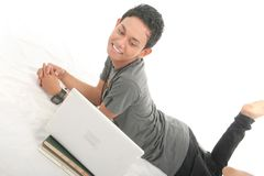 Gay with laptoop Stock Images