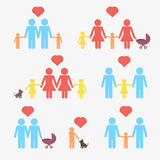Gay, lesbian, homosexual couples with children Stock Photos