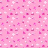 Pattern same-sex love for printing on fabric royalty free illustration