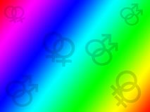 Gay and Lesbian Rainbow Background Royalty Free Stock Photo