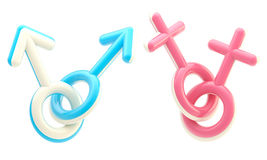 Gay and lesbian symbol emblems Royalty Free Stock Photo