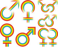 Gay or lesbian symbol Stock Photography