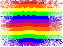 LGBT rainbow colors hand Stock Photos