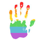 Gay and LGBT support symbol. Stock Photos