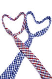 Gay love or gay marriage. Two ties forming hearts symbolizing gay love or gay marriage Stock Images