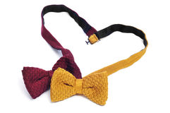 Gay love or gay marriage. Two bow ties forming a heart symbolizing gay love or gay marriage Stock Images