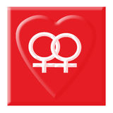 Gay love symbol royalty free illustration