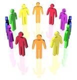 Gay man circle. Gay flag colored man signs in circle Royalty Free Stock Images