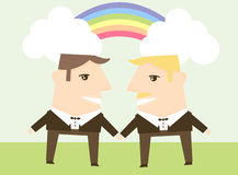 Gay Marriage. A concept for gay marriage Stock Photo