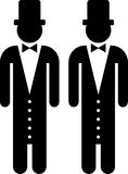 Gay marriage. Pictogram of a gay wedding Stock Photography