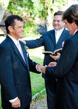 Gay Marriage Ceremony - Rings Royalty Free Stock Photography