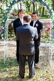 Gay Marriage In the Garden Royalty Free Stock Image