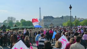 Gay marriage opponents demonstration Stock Images