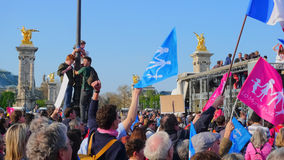 Gay marriage opponents demonstration Royalty Free Stock Images