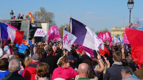 Gay marriage opponents demonstration Royalty Free Stock Photography