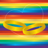 Gay marriage rings Royalty Free Stock Photos