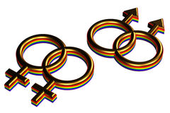Gay marriage sign Stock Photography